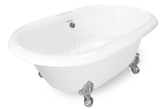 Dual Ended Clawfoot Bathtub