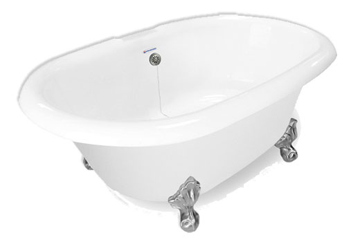 Dual Ended Clawfoot Bath Tub Duchess 72 Inch