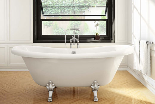 Air Jetted Double Slipper Tub