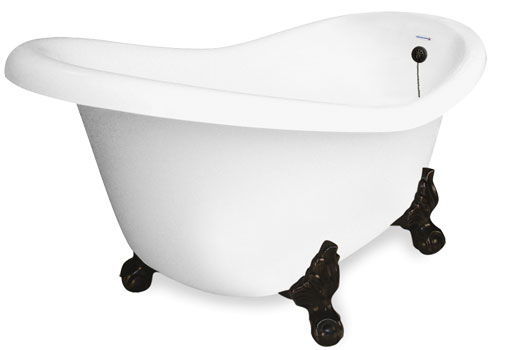 Clawfoot Slipper Bath Tub 60 Inch Princess