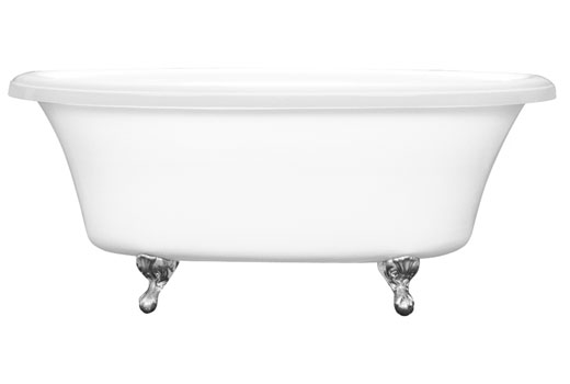 Dual Ended Clawfoot Bath Tub 66 Inch Delilah 6638CF