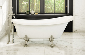 Virginia Clawfoot Slipper Tub with Jets