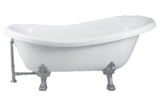 Virginia Clawfoot Slipper Tub 67 inch
