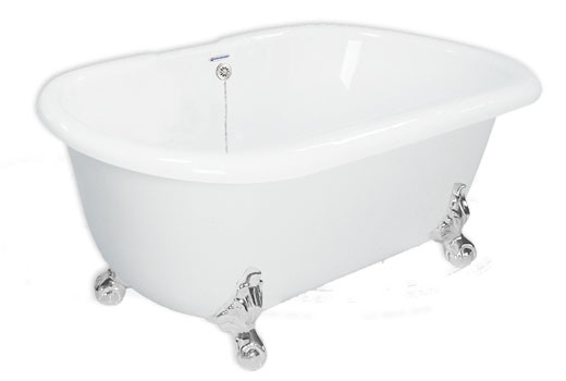 Dual Ended Clawfoot Bath Tub 70 Inch Celine