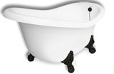 Princess Clawfoot Slipper Tub 60 Inches