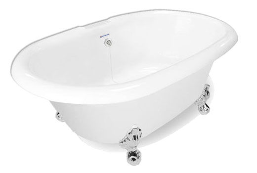 Champagne Duchess Dual Ended Clawfoot Tub 72 Inch