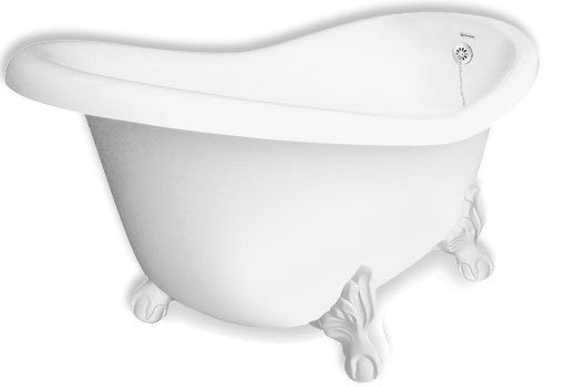 Jetted Clawfoot Slipper Tub Monroe 67 Inch