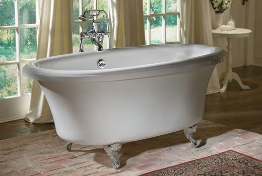 Jetted Dual Ended Clawfoot Tub With Air Bath Delilah