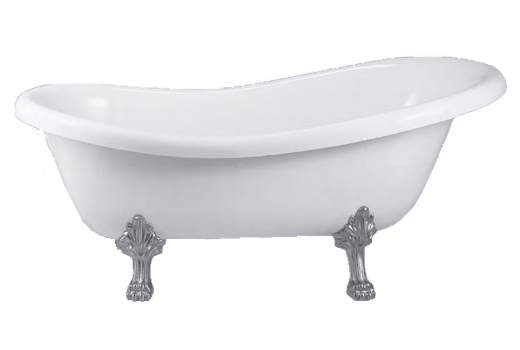 Clawfoot Slipper Bath Tub 66.5 Inch Virginia