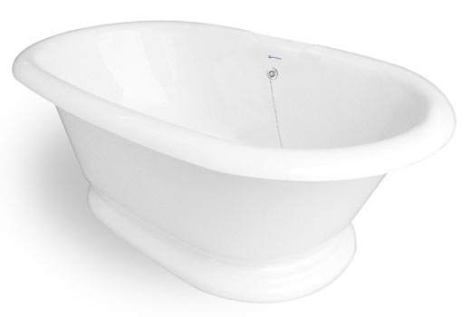 Heritage 6 Foot Pedestal Tub