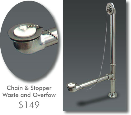 Waste and Overflow: Chain and Stopper