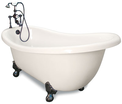71 Inch Clawfoot Slipper Tub Large View