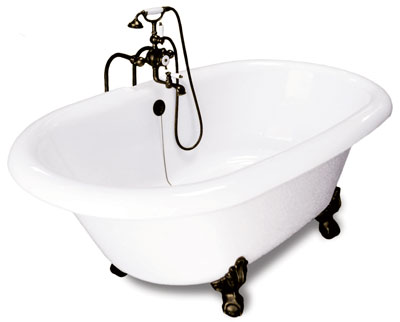72 Inch Dual Ended Clawfoot Tub Image