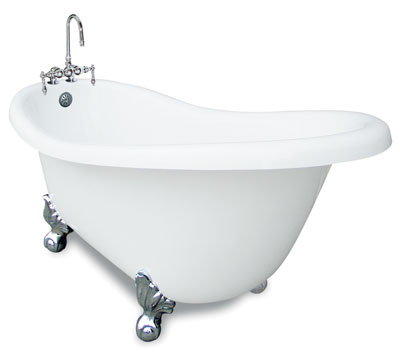 67 inch clawfoot slipper bath tub